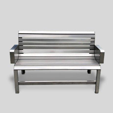 Metall-Sitzbank
